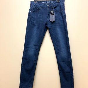 Vintage Genes Black Straight Slim Jeans 30